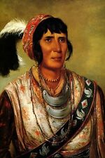 SEMINOLE OSCEOLA THE BLACK DRINK WARRIOR AMERICAN INDIAN BY GEORGE CATLIN REPRO