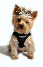 ULTRA CHOKE FREE MESH DOG STEP IN HARNESS LIMO BLACK MADE IN USA XS S M L