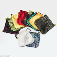 Wholesale 10pcs / 50pcs MIX colors silk Bag/Purse jewelry Bags Gift packing