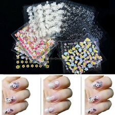 New Mix Color 30/50 Sheets 3D Nail Art Stickers Shape Manicure Sticker Decal DIY