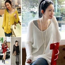 Womens Casual V neck knitwear Sweater Long Sleeve Cardigan Loose Jumper Tops new