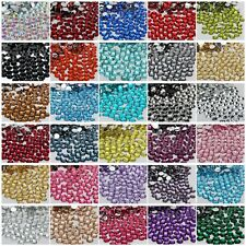 1000P  2/3/4/5/6MM sparkling Resin Rhinestone Flatback Crystal  14 Facets #SZ01