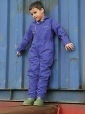 Dickies Childs Kids Junior Boilersuit Overalls Coverall WD4839J (Red or Blue)