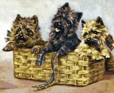 Cairn Terrier Puppies ~ Victorian Dogs ~ Counted Cross Stitch Chart