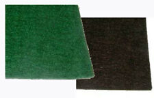 """FELT PADDING 12"""" x 12"""" x 1/8"""" or 1/16"""" thick, Adhesive backing, Green, or Brown"""