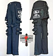 Unisex Visual Kei Resident Evil Cyber Punk Rockabilly Skull Waist Patch Pants