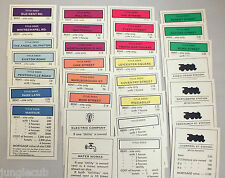 FRANKLIN MINT REPLACEMENT MONOPOLY DELUXE SPARE TITLE DEEDS ~ VARIATION LISTING