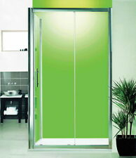 NEW Luxury 1400 Sliding Shower Door and Side Panel Optional Stone Tray