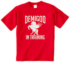 Demigod In Training Kids Youth Boys Girls T-Shirt Tee Greek Myth Percy Jackson