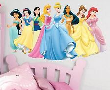Disney Princesses wall sticker mural, full colour wall stickers Girls bedroom