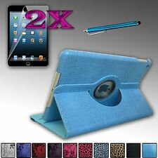 360 Degree Rotating PU Leather Case Cover Bundle For Apple iPad Air 5 5th Gen