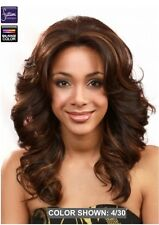 MIDWAY BOBBI BOSS MLF14S SHORT PEARL LACE FRONT WIG WAVY BIG CURLS MEDIUM LENGTH