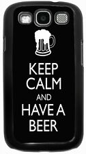 Keep Calm and Have a Beer Black Design Case for Samsung Galaxy S3 S4
