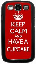 Rikki Knight Keep Calm and have a Cupcake - Red Case for Samsung Galaxy S3 S4 S5