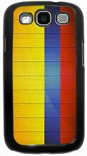 Rikki Knight Colombia Flag on Distressed Wood Case for Samsung Galaxy S3 S4 S5