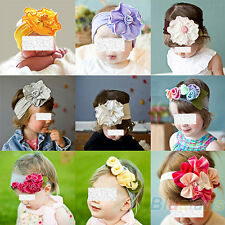 LOVELY ELASTIC BABY INFANT KIDS GIRLS HEAD FLOWER HEADBAND HAIR DECOR GIFT BF4K