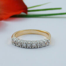 1 CARAT 9 STONE CZ CUBIC ZIRCONIA RING WEDDING BAND SIZE 5 6 7 8 9