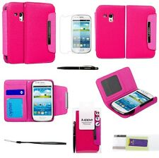 Flip Wallet LEATHER Case Cover For SAMSUNG GALAXY S3 MINI I8190 & Screen Guard