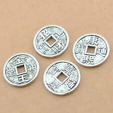 30/70/150pcs Tibetan Silver Old Coins Spacer Loose Beads Findings15x15mm DZ161