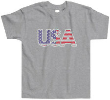 USA Retro Flag Design Toddler T-Shirt Tee America American Pride Country Fun