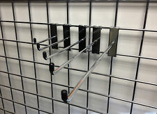 MESH PIN ARMS CHROME HOOKS GRIDWALL ARM ACCESSORY RETAIL DISPLAY HOOK NEW SHOP