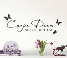 Luxurious Wall Tattoo Carpe Diem With Butterflies W723 Living Room Wall Tattoo