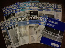 Peterborough United HOME programmes 1970s choose from list FREE UK P&P