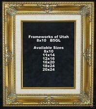 """NEW!  8x10 Gold Frame with Liner - 2 3/4"""" Wide"""