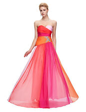 GK New Colorful Chiffon Long Formal Evening Bridesmaid Prom Party Dress Gown
