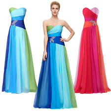 2015 DESIGNED Colorful Long Formal Evening Bridesmaid Prom Party Dress Gown PLUS