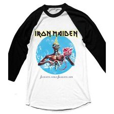 IRON MAIDEN Seventh Son Raglan Baseball Shirt (White) Mens New 'Official'