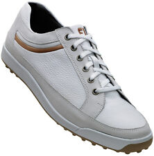 FootJoy Contour Casual Spikeless Golf Shoes Closeout White 54251 Mens New