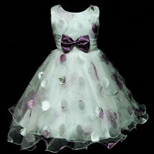 CAPU3211 Easter Purple Wedding Flower Party Girls Dresses Size 3,4,5,6,7,8 Years