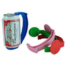 Set of 4 Instant Beer Stein Can Grip Handles - Clips on your Can! 5 Colors
