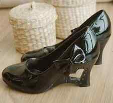 Women's Fashion Wedge Shoes New Kitten Heels Cute Bow PU Leather Pumps