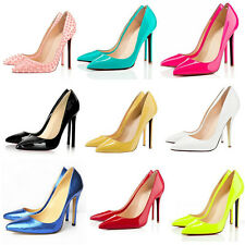 WOMENS 11CM HIGH HEELS POINTED CORSET WORK PUMPS COURT WEDDING PARTY SHOES UK2-9