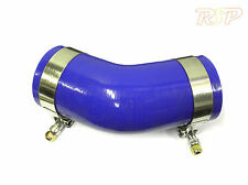 """Universal Blue Silicone Hose Elbow 45 Degree 2"""" 2.25"""" 2.5"""" 2.75"""" 3"""" & T clamp"""
