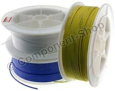 5 metres super flexible 24AWG Silicon Wire RED BLACK BLUE YELLOW and WHITE