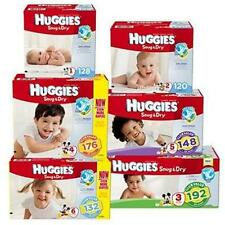 Huggies Snug & Dry Baby Diapers *Pick Your Baby Size 1, 2, 3, 4, 5, 6 Great Deal