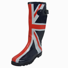Wellington Boots for Women Union Jack Printed Wellies Size 3-8