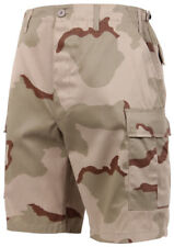 shorts camo bdu military style cargo tri color desert camouflage rothco 7672