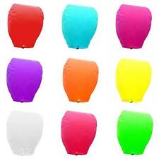Pure Color Chinse Sky Flying Paper Lanter Lucky Wishing Glim KongMing Lantern