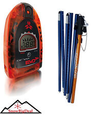 Arva Evo 3+ Avalanche Beacon Digital Avy Transceiver & Snow Rescue Probe