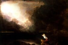 THE VOYAGE OF LIFE OLD AGE STAGES OF HUMAN LIFE PAINTING BY THOMAS COLE REPRO