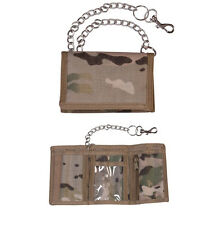 Mens Army Combat Military Zip Travel Pouch Wallet Chain Nylon UTP Multi Camo