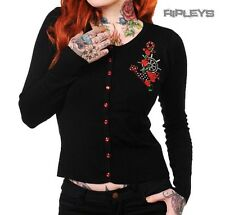 BANNED Ladies Black ANCHOR CARDIGAN Top Rockabilly Pinup Plus Size