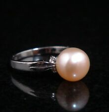Gorgeous Fresh Water Pink Pearl Lady's Jewelry Ring #03261404