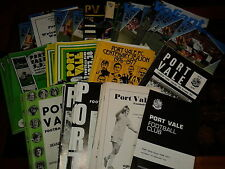 Port Vale HOME programmes 1974/75 1975/76 1976/77 choose from list FREE UK P&P
