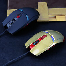 1X Iron Man Design USB 2000DPI Wired Optical Gaming Mouse For PC Laptop