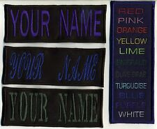 """Large 4""""x8"""" Custom Name Tag  Patch with Iron-On backing  -  """"YOUR NAME"""""""